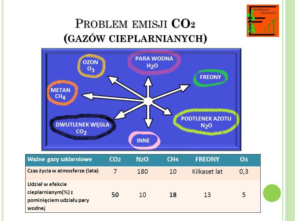 Problem emisji CO2 (gazów cieplarnianych)