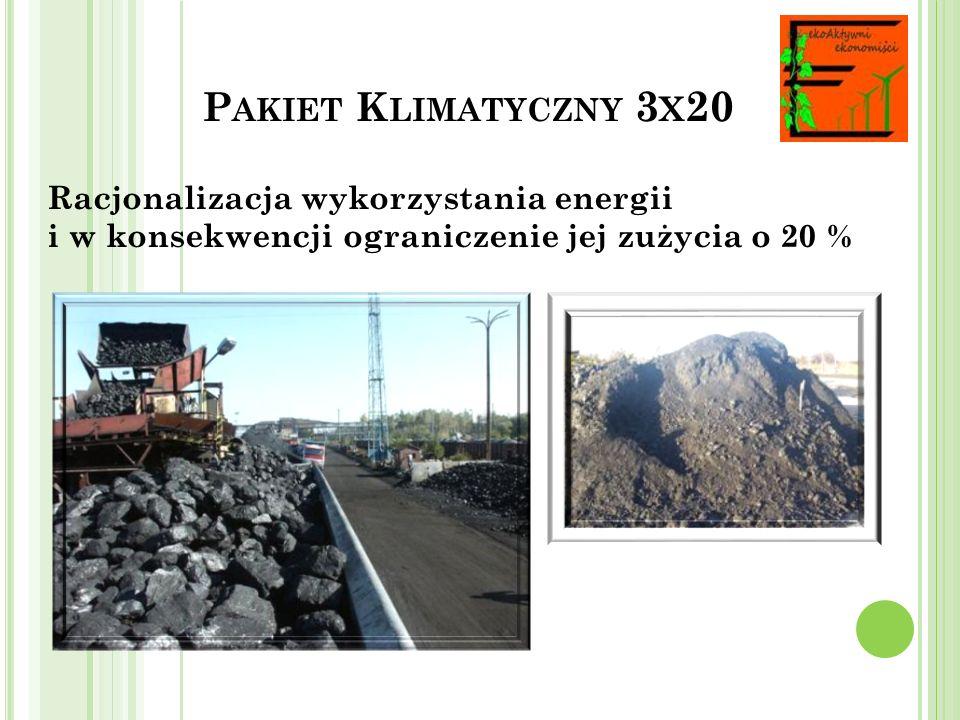 Pakiet Klimatyczny 3x20 Racjonalizacja wykorzystania energii