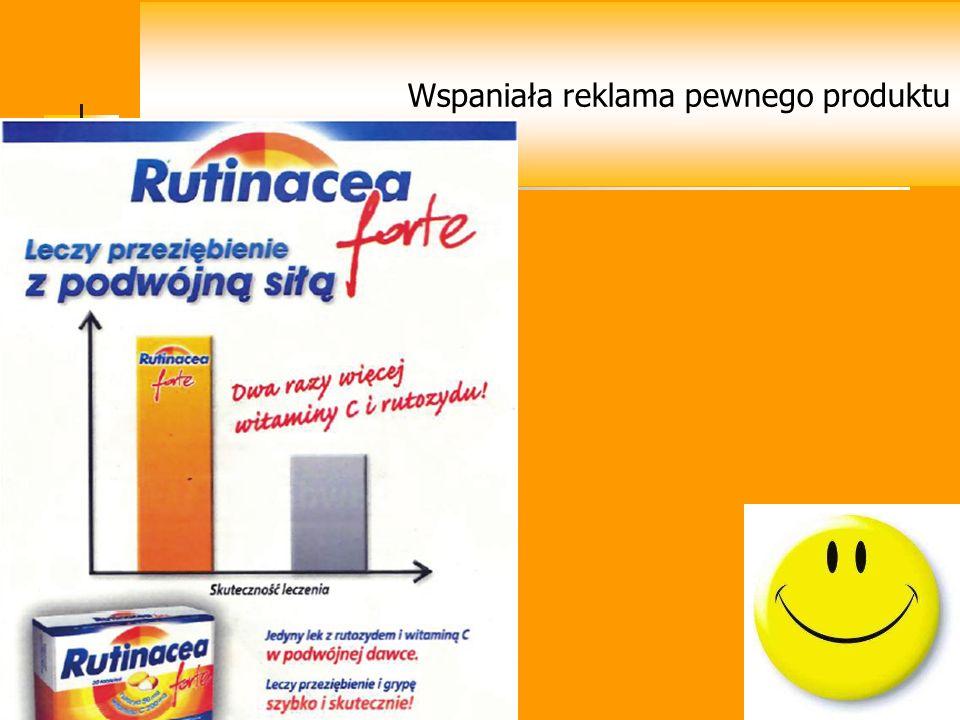 Wspaniała reklama pewnego produktu