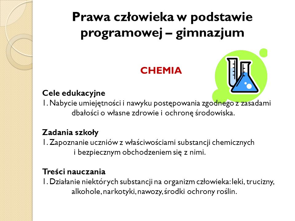 Prawa człowieka w podstawie programowej – gimnazjum