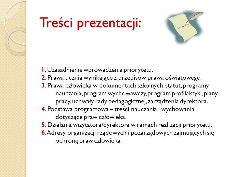 Treści prezentacji: