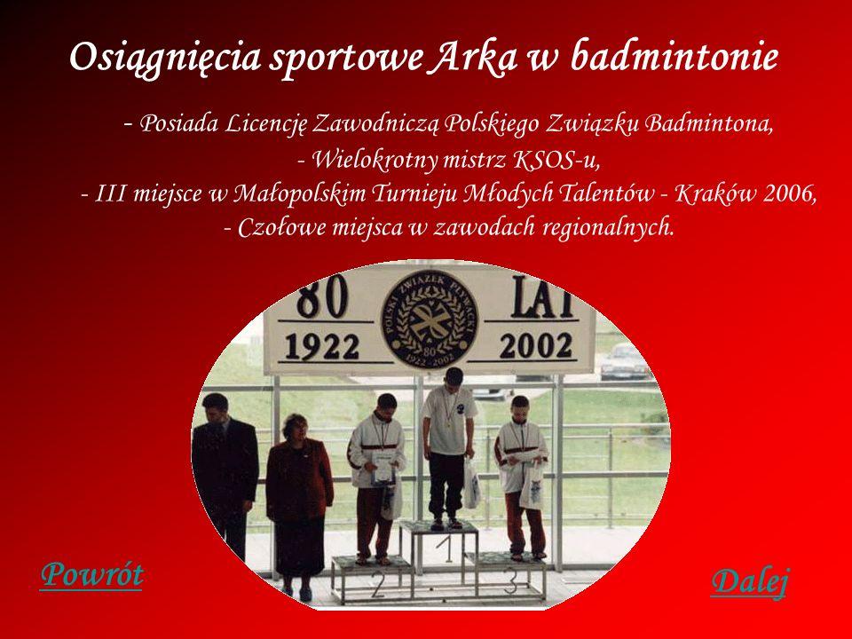 Osiągnięcia sportowe Arka w badmintonie