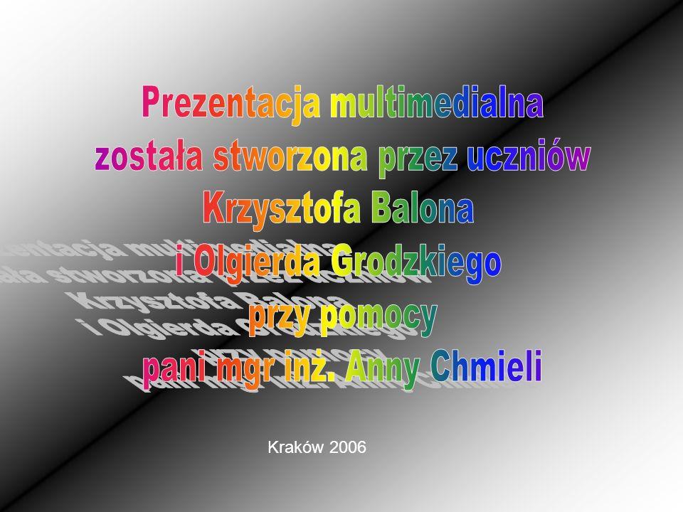 Prezentacja multimedialna została stworzona przez uczniów