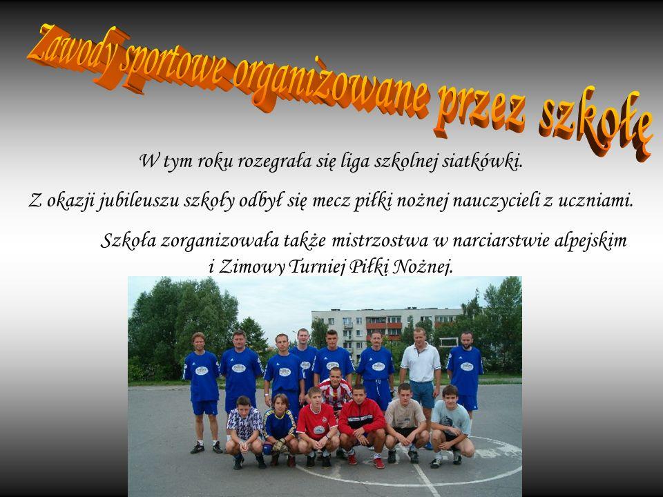 Zawody sportowe organizowane przez szkołę