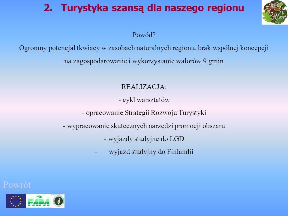 2. Turystyka szansą dla naszego regionu