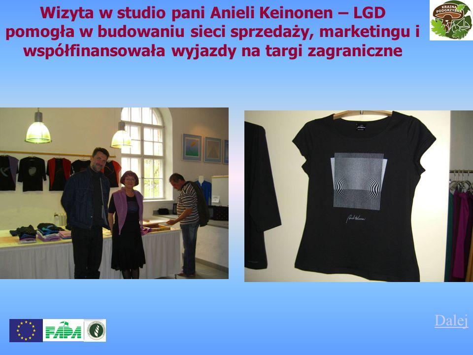 Wizyta w studio pani Anieli Keinonen – LGD pomogła w budowaniu sieci sprzedaży, marketingu i współfinansowała wyjazdy na targi zagraniczne