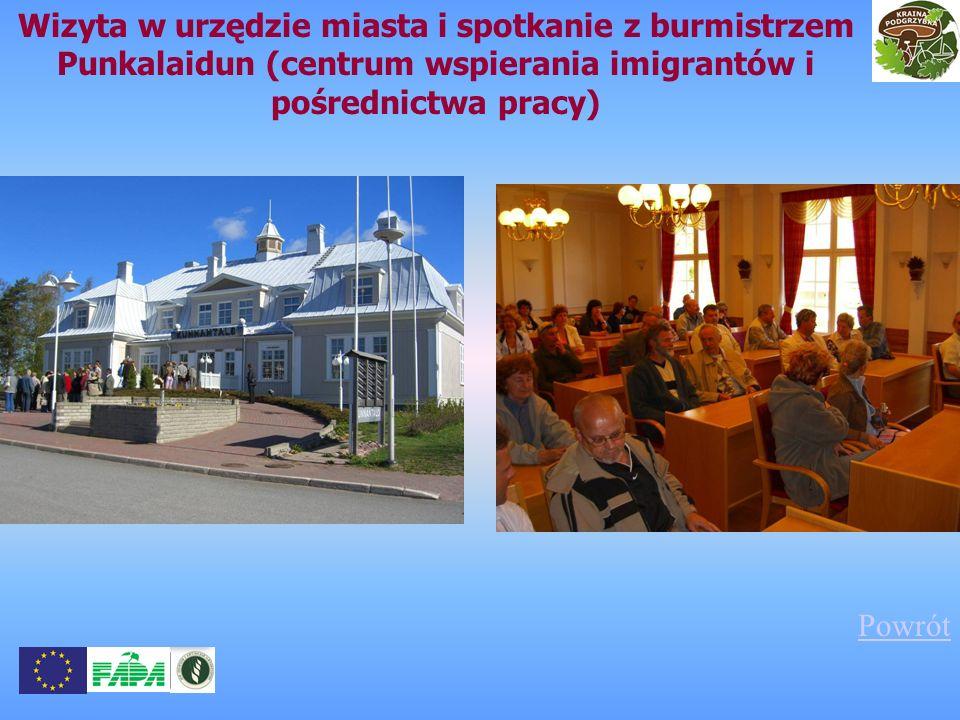 Wizyta w urzędzie miasta i spotkanie z burmistrzem Punkalaidun (centrum wspierania imigrantów i pośrednictwa pracy)