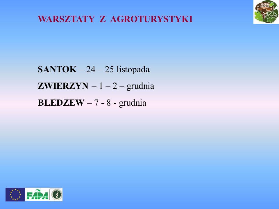 WARSZTATY Z AGROTURYSTYKI