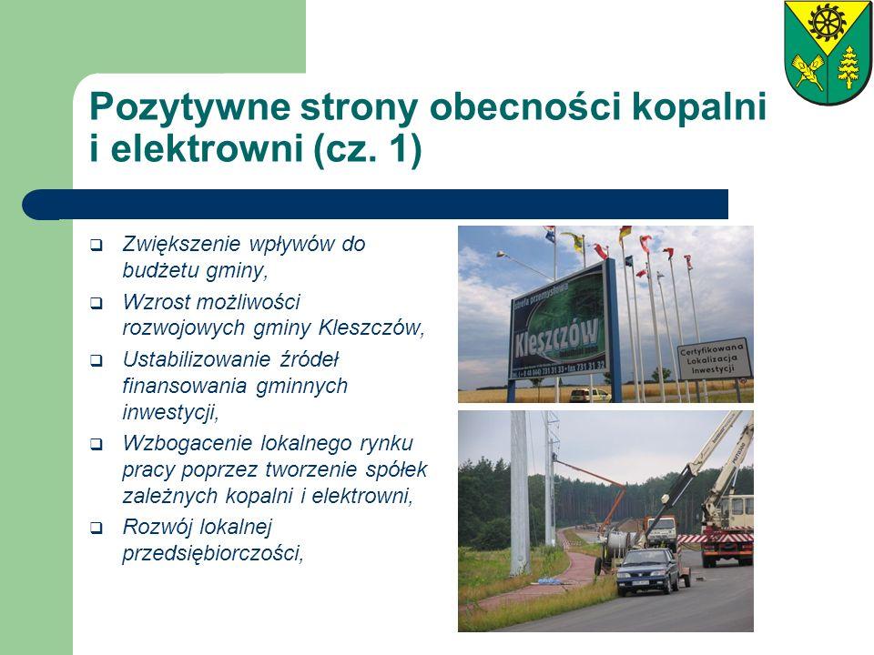 Pozytywne strony obecności kopalni i elektrowni (cz. 1)