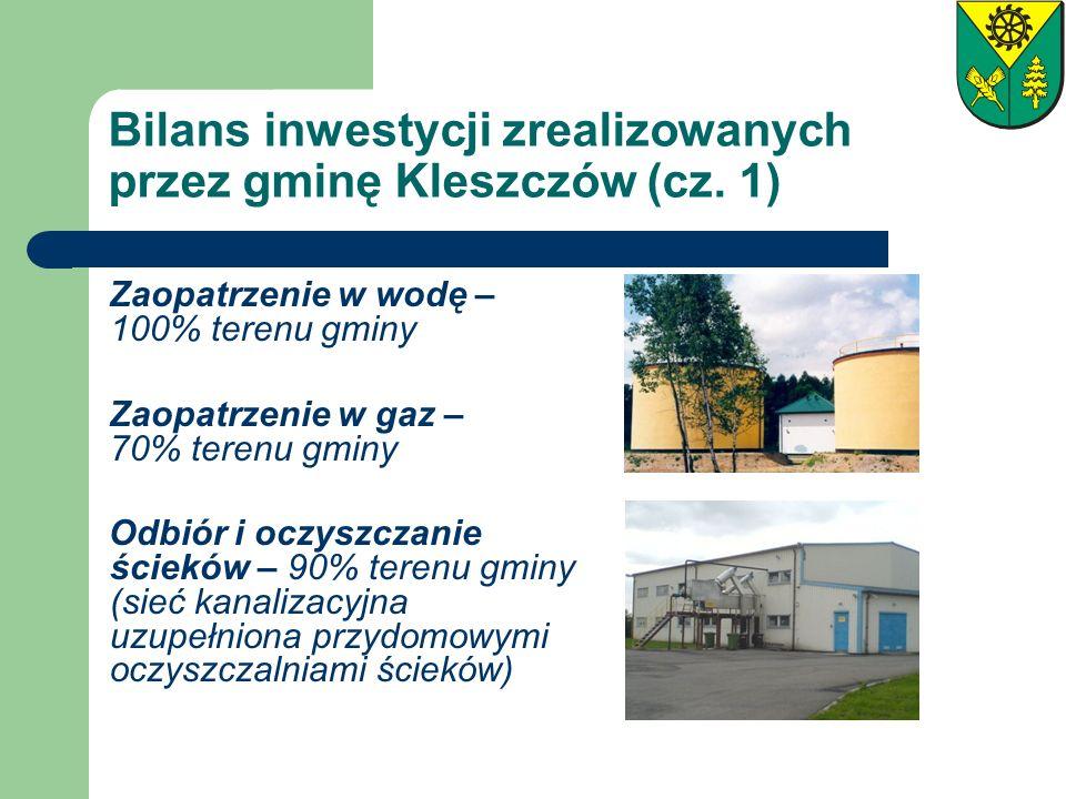 Bilans inwestycji zrealizowanych przez gminę Kleszczów (cz. 1)