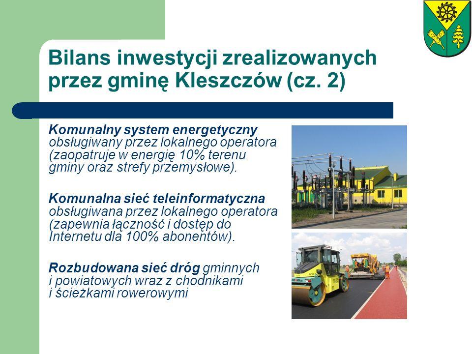 Bilans inwestycji zrealizowanych przez gminę Kleszczów (cz. 2)