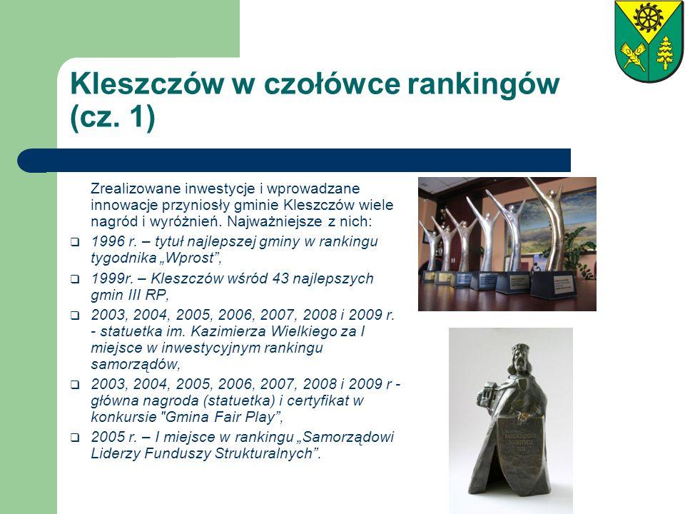 Kleszczów w czołówce rankingów (cz. 1)