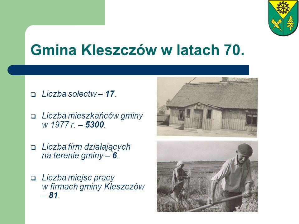 Gmina Kleszczów w latach 70.