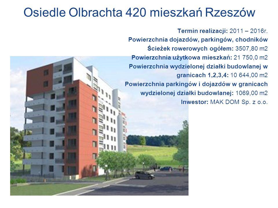 Osiedle Olbrachta 420 mieszkań Rzeszów