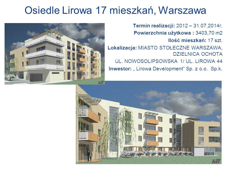 Osiedle Lirowa 17 mieszkań, Warszawa