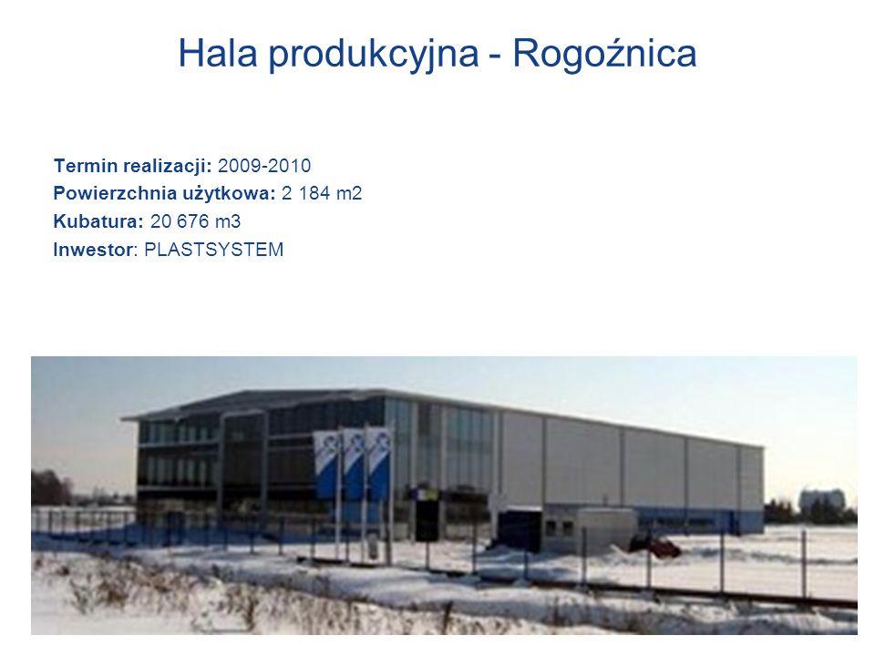 Hala produkcyjna - Rogoźnica