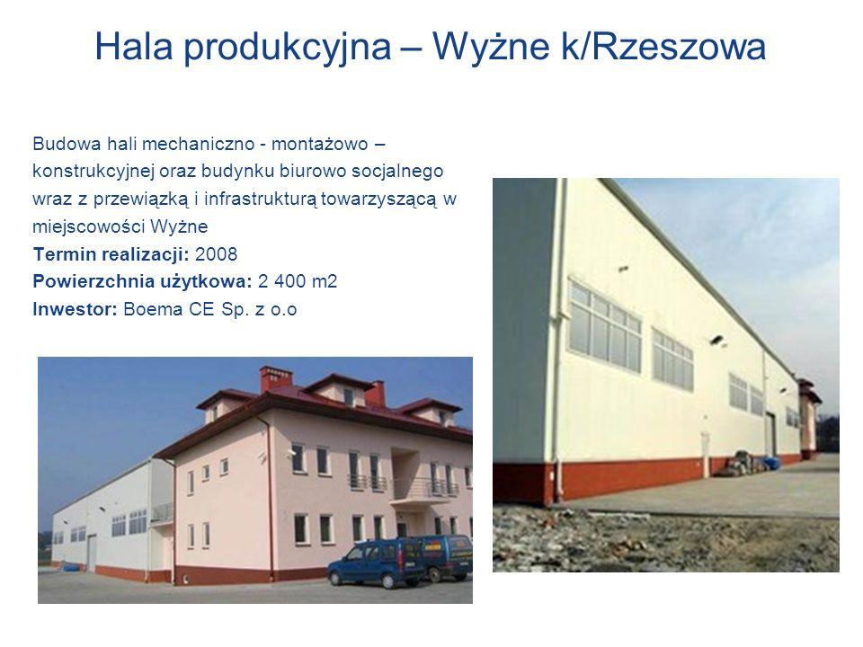 Hala produkcyjna – Wyżne k/Rzeszowa