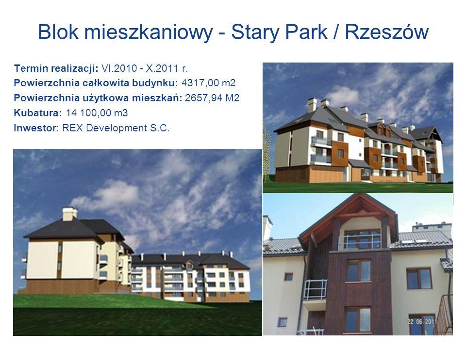 Blok mieszkaniowy - Stary Park / Rzeszów