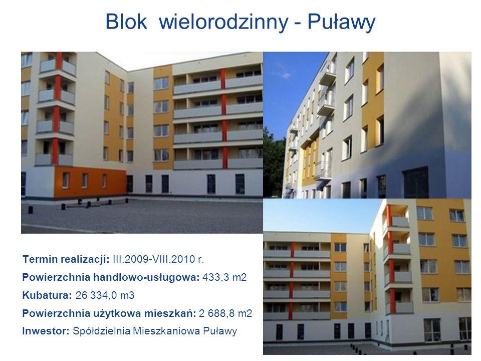 Blok wielorodzinny - Puławy