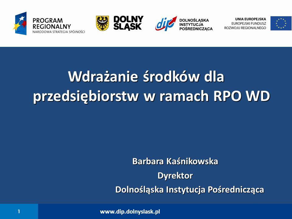 Wdrażanie środków dla przedsiębiorstw w ramach RPO WD