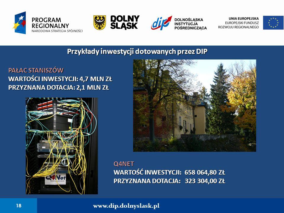 Przykłady inwestycji dotowanych przez DIP