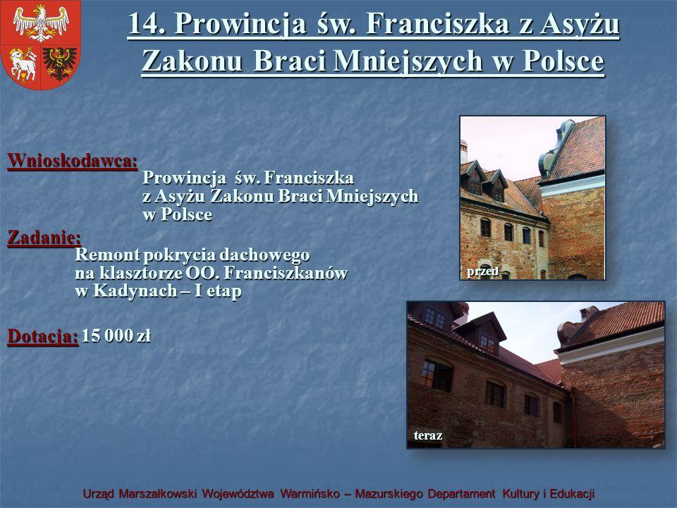 14. Prowincja św. Franciszka z Asyżu Zakonu Braci Mniejszych w Polsce