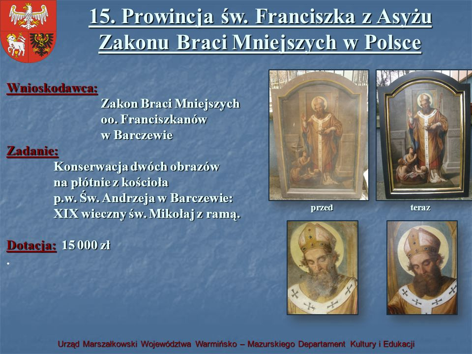 15. Prowincja św. Franciszka z Asyżu Zakonu Braci Mniejszych w Polsce