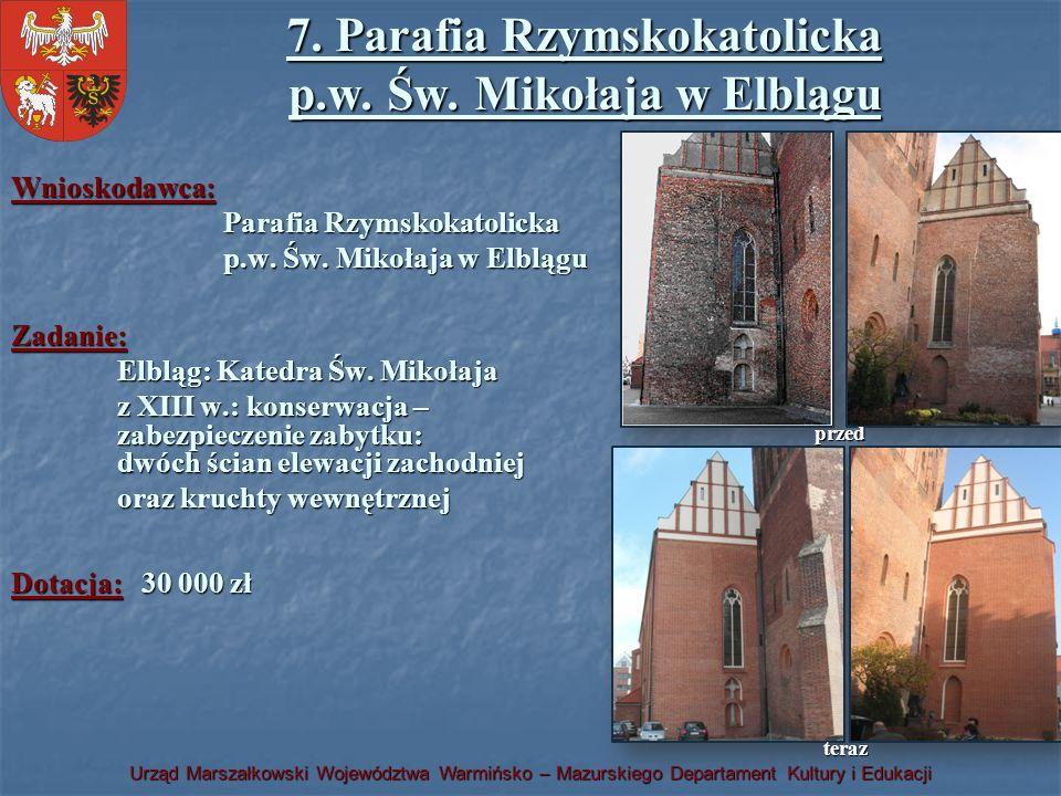 7. Parafia Rzymskokatolicka p.w. Św. Mikołaja w Elblągu