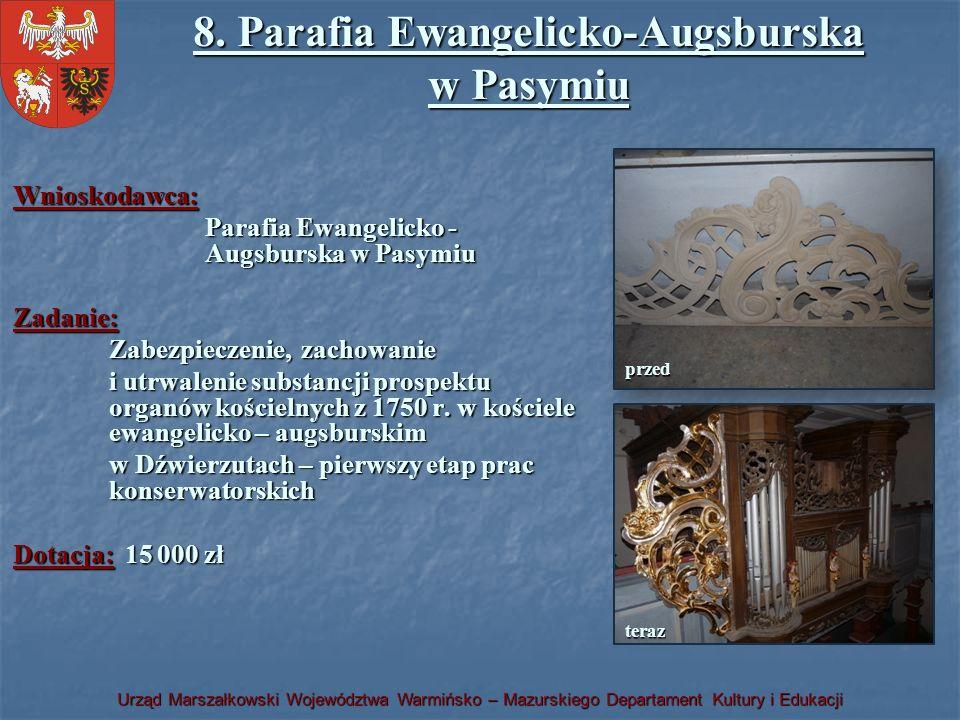 8. Parafia Ewangelicko-Augsburska w Pasymiu