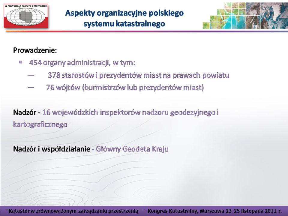 Aspekty organizacyjne polskiego systemu katastralnego