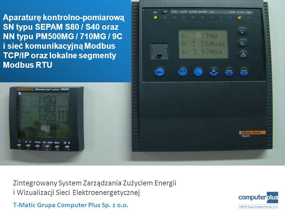 Aparaturę kontrolno-pomiarową SN typu SEPAM S80 / S40 oraz NN typu PM500MG / 710MG / 9C
