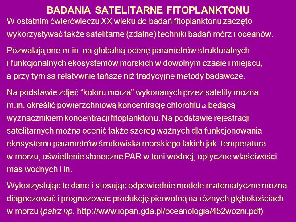 BADANIA SATELITARNE FITOPLANKTONU