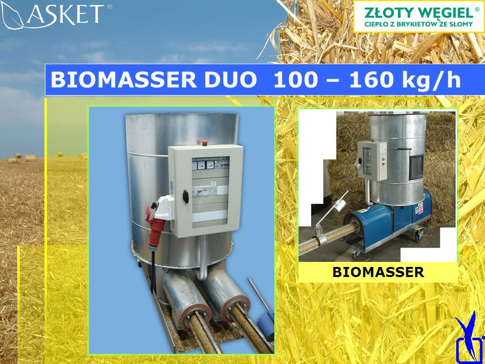 BIOMASSER DUO 100 – 160 kg/h BIOMASSER