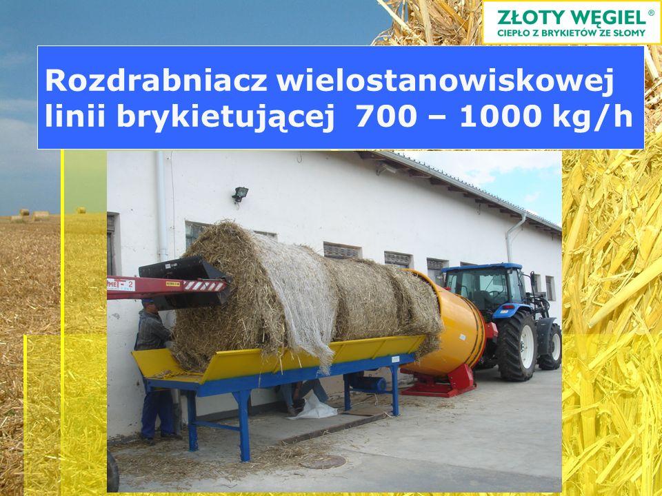 Rozdrabniacz wielostanowiskowej linii brykietującej 700 – 1000 kg/h