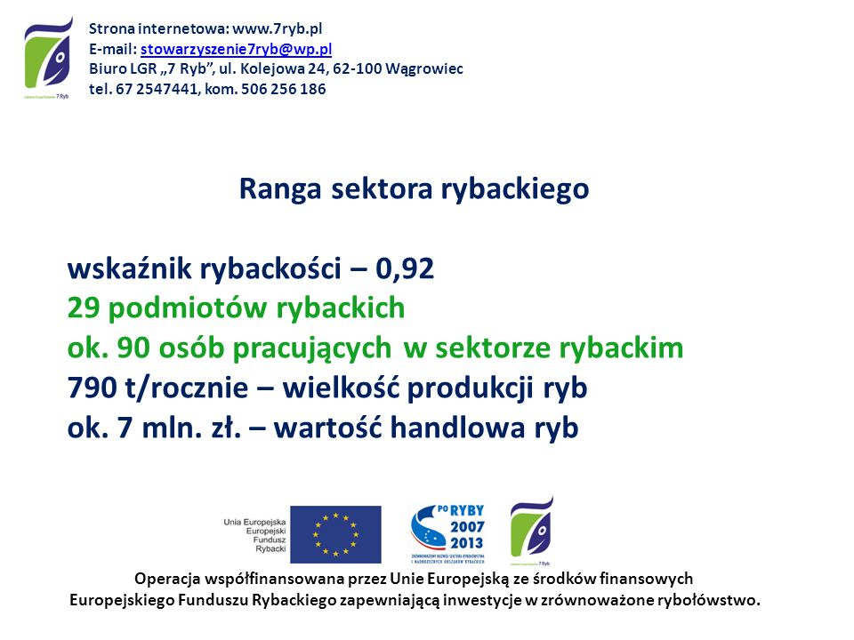 Strona internetowa: www.7ryb.pl