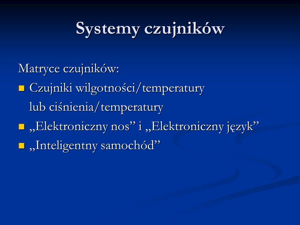 Systemy czujników Matryce czujników: Czujniki wilgotności/temperatury