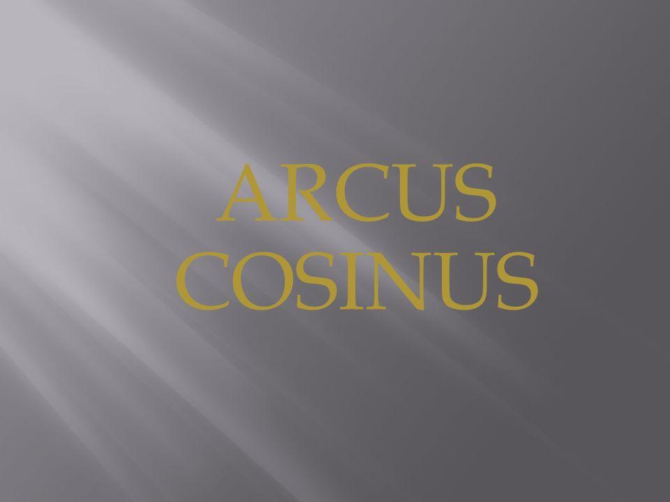 ARCUS COSINUS