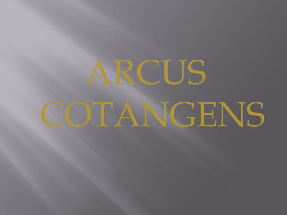 ARCUS COTANGENS