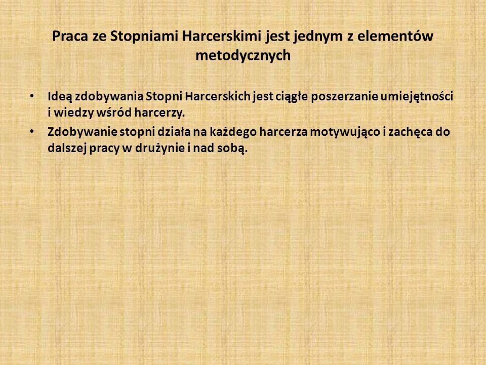 Praca ze Stopniami Harcerskimi jest jednym z elementów metodycznych