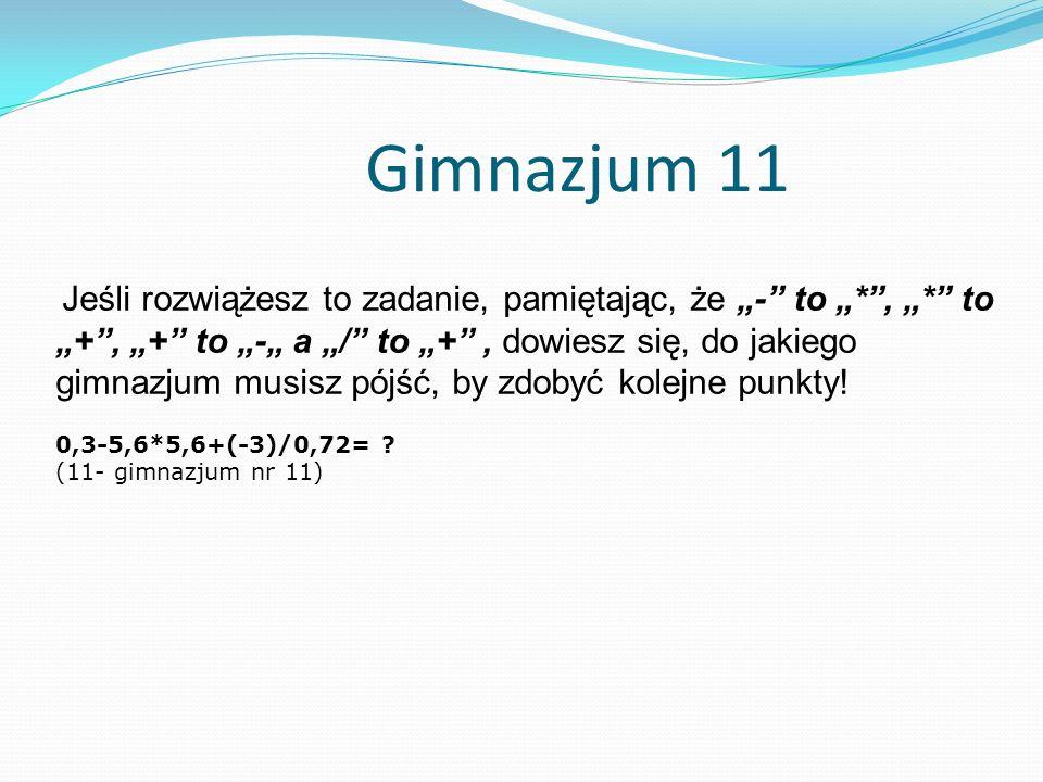 Gimnazjum 11