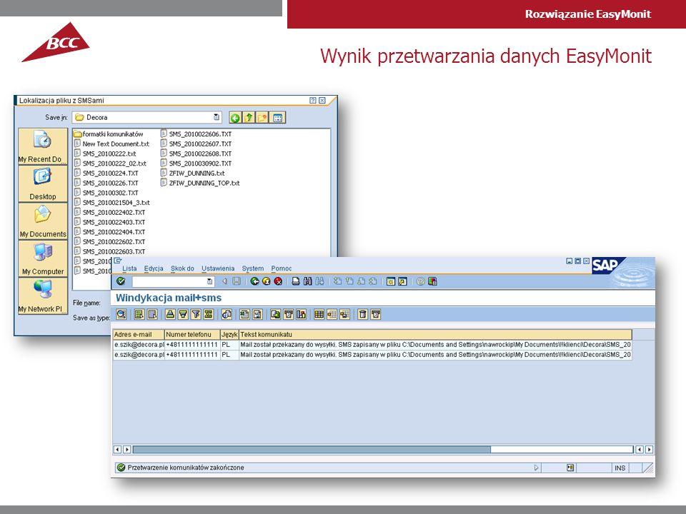Wynik przetwarzania danych EasyMonit
