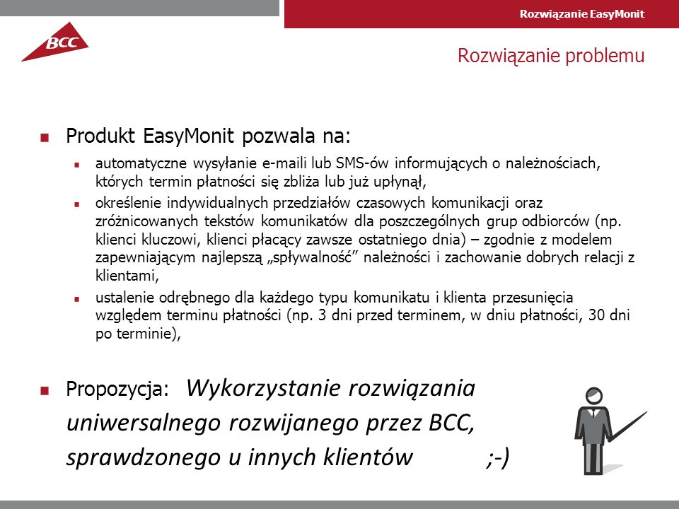 Produkt EasyMonit pozwala na: