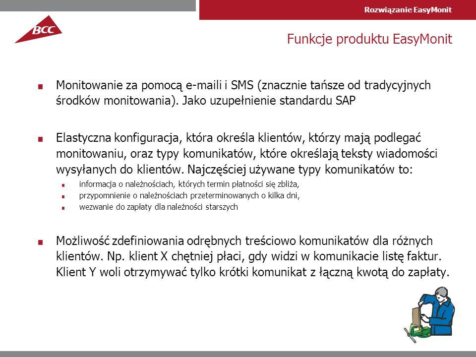 Funkcje produktu EasyMonit
