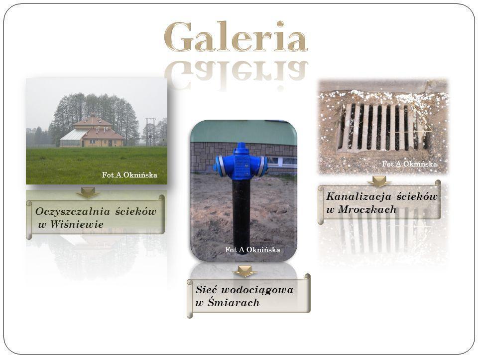 Galeria Kanalizacja ścieków w Mroczkach Oczyszczalnia ścieków
