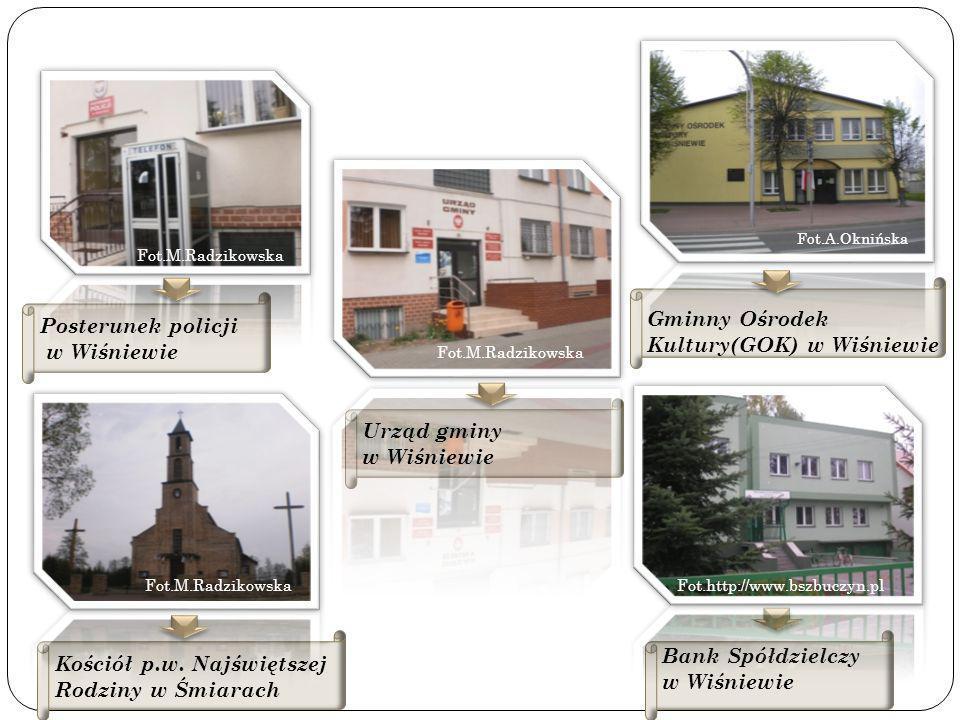 Gminny Ośrodek Kultury(GOK) w Wiśniewie Posterunek policji w Wiśniewie