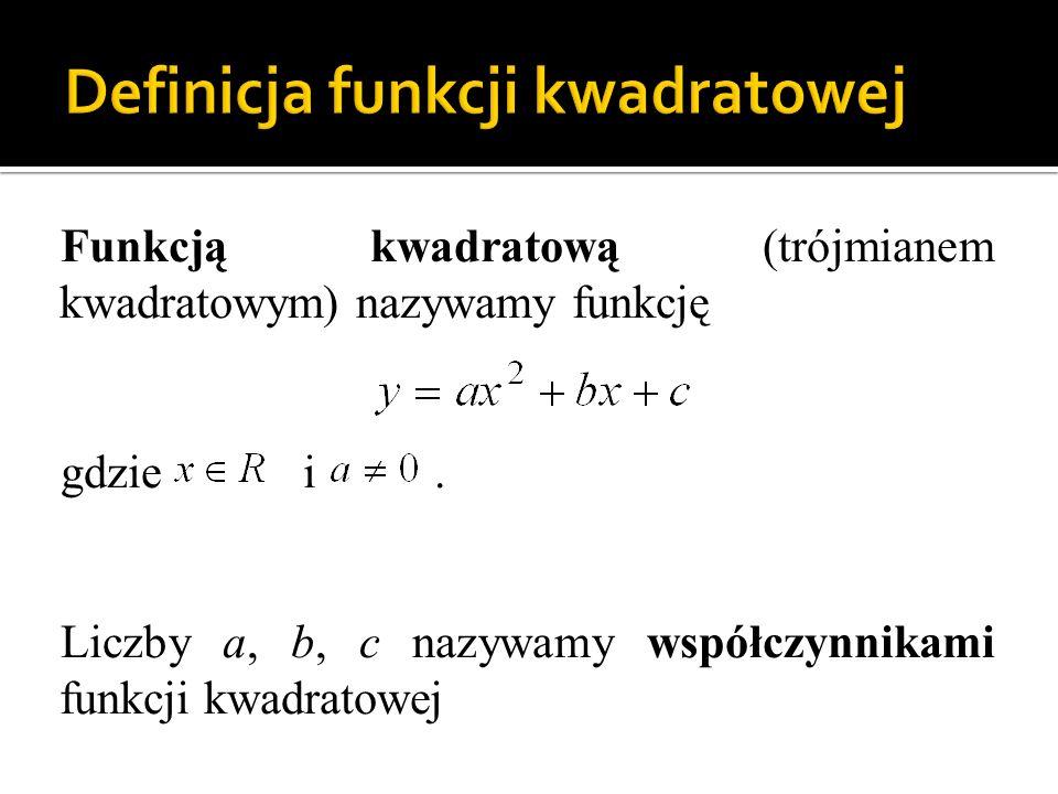 Definicja funkcji kwadratowej