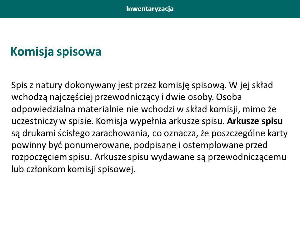 Inwentaryzacja Komisja spisowa.