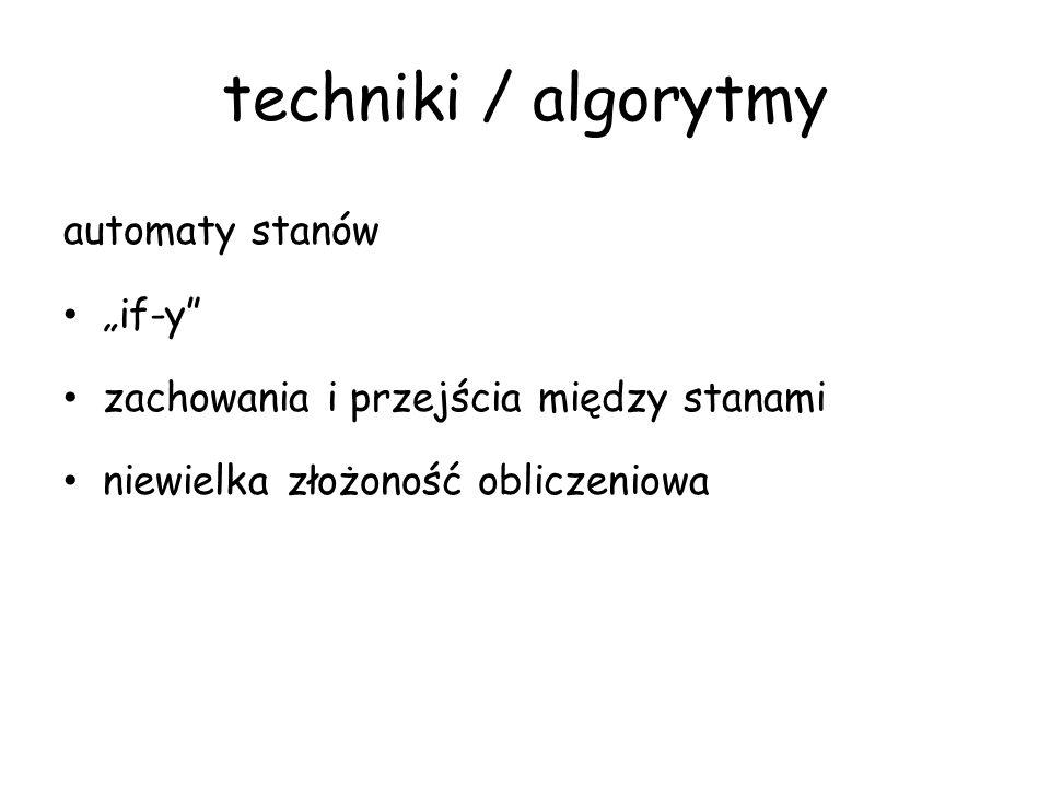 """techniki / algorytmy automaty stanów """"if-y"""