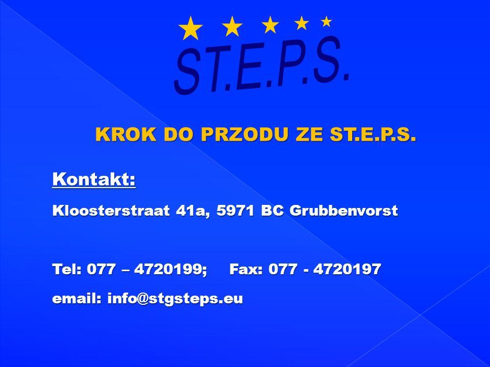 ST.E.P.S. KROK DO PRZODU ZE ST.E.P.S. Kontakt:
