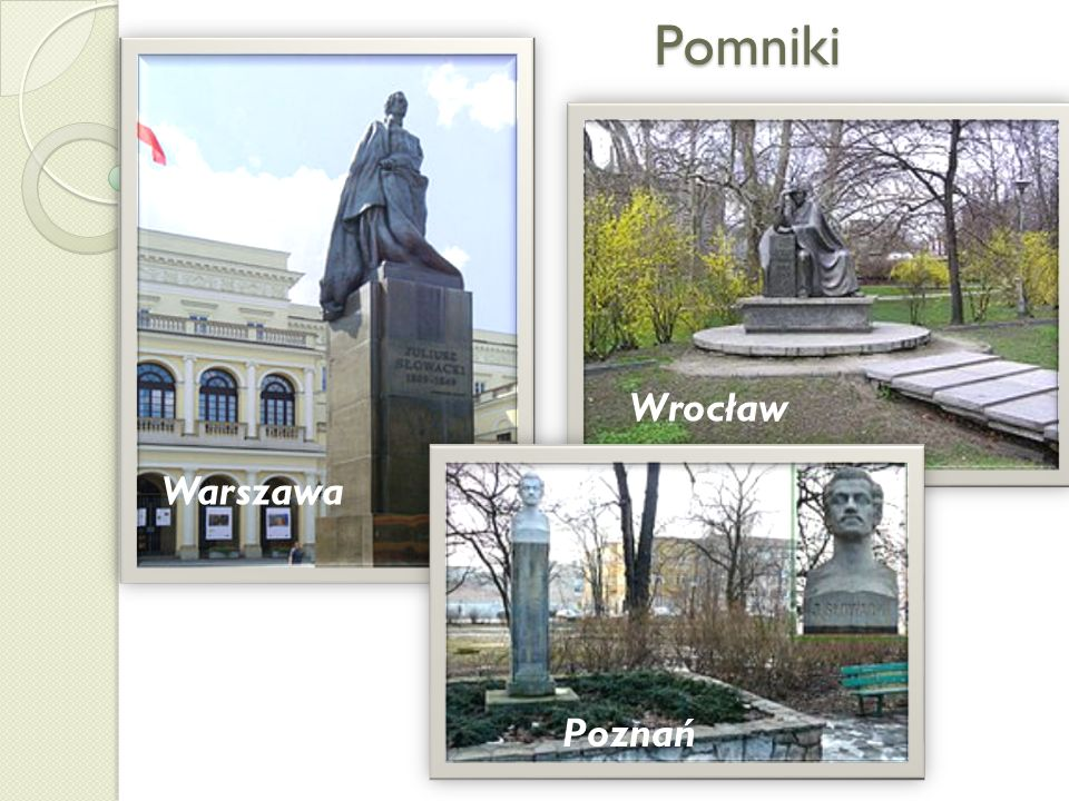 Pomniki Wrocław Warszawa Poznań